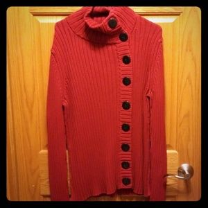 Sweaters - Red w/Buttons Sweater